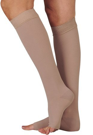 [From USA]Juzo Varin Knee High 30-40mmHg Open Toe w/ 5cm Silicone Dot Band IV