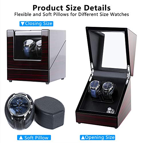 From USA kalawen Watch Winder for Automatic Watches Double Watch Winder with 5