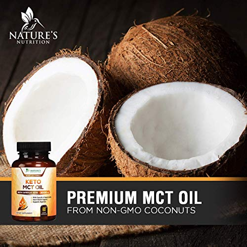 (FROM USA) Keto MCT Oil Capsules from Non-GMO Coconut Oil - Extra Strength 300