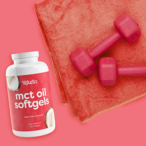 (FROM USA) Kiss My Keto MCT Oil Capsules [1000mg], 300 Softgel Pills | 100 Day