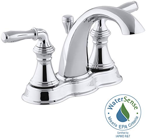 [From USA]KOHLER Devonshire Bathroom Sink Faucet Polished Chrome 393-N4-CP