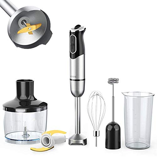 (FROM USA) KOIOS 800W Immersion Hand Blender, Multifunctional 5-in-1 Low Noise