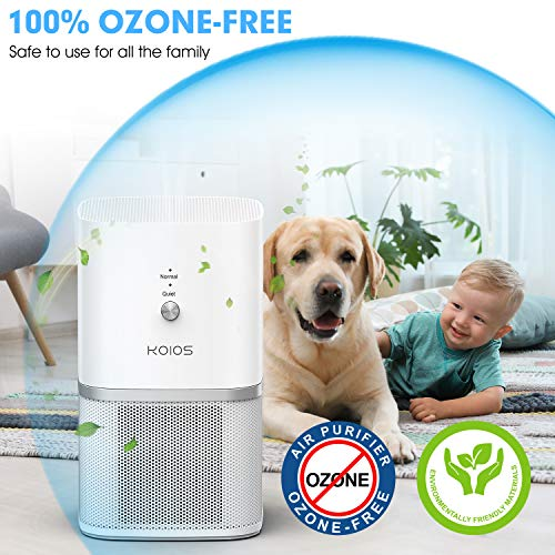 From USA KOIOS Air Purifier, 3-in-1 True HEPA Air Purifier for Home, Desktop A