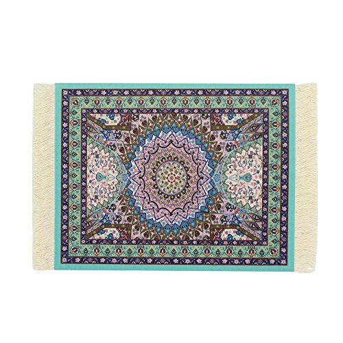 [From USA]Kotoyas Persian Style Carpet Mouse Pad Several Images (Blue Heart)