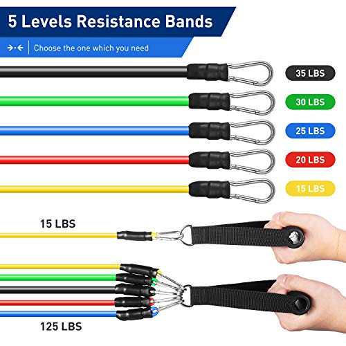 From USA KUYOU Resistance Bands Set 2020 New 11 Pcs Exercise Workout Bands wit