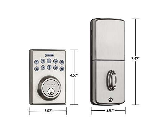 ..../ From USA/ Kwikset 92640-001 Contemporary Electronic Keypad Single Cylind