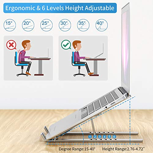 From USA Laptop Stand Aluminum Laptop Riser GUSGU Universal Adjustable Laptop