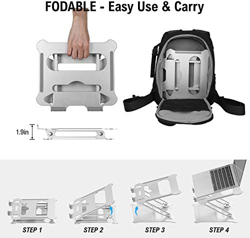 From USA Laptop Stand, Coolwin Laptop Holder, Multi-Angle Stand with Heat-Vent