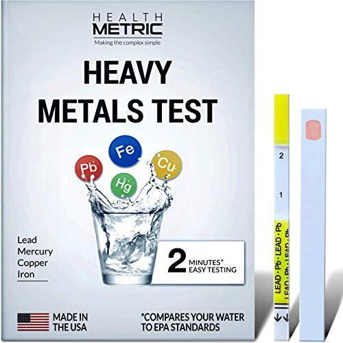 (FROM USA) Lead Iron Copper and Mercury - Home Water Test Kit for Well Tap and