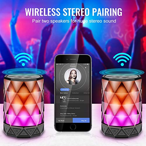 From USA LED Light Bluetooth Speakers with Lights, LFS Night Light Wireless Sp