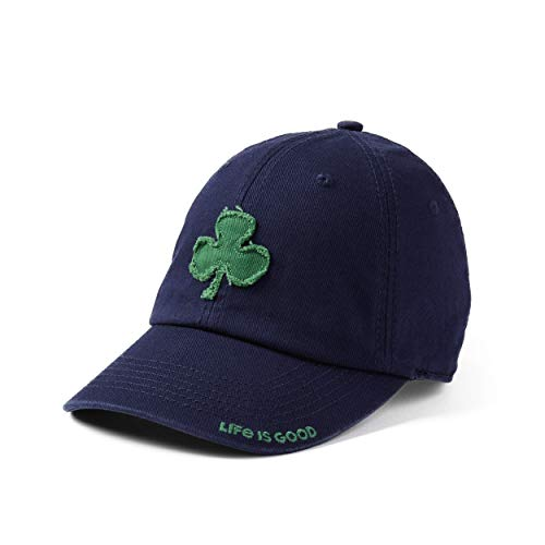 (FROM USA) Life is good Unisex Tattered Chill Applique Shamrock Dstblu, Darkes