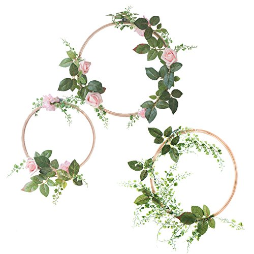 (FROM USA) Ling's moment Summer Greenery Wedding Handcrafted Vine Wreaths Set