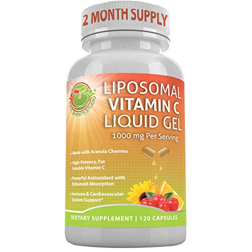 From USA LIPOSOMAL Vitamin C Liquid Gel Organic Acerola Cherries  & Sunflower