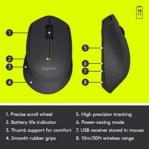 From USA Logitech M330 Silent Plus Wireless Mouse – Enjoy Same Click Feel wi