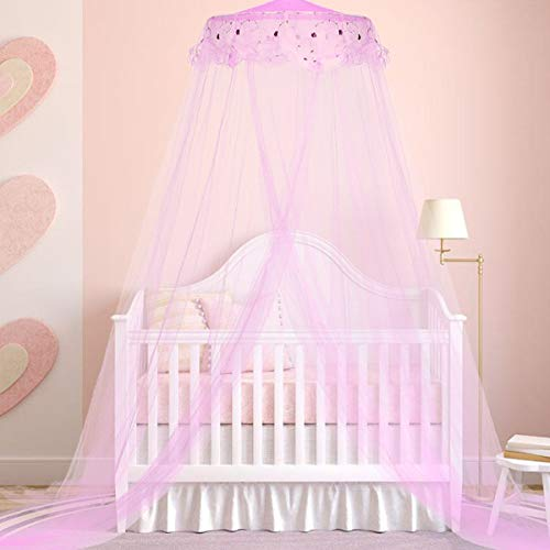 [From USA]Loisleila Round Lace Curtain Dome Bed Canopy Netting Princess Mosqui