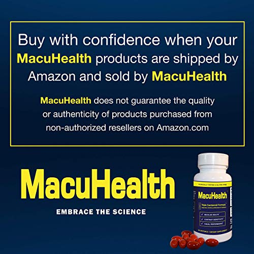 (FROM USA) MacuHealth Eye Vitamins Supplement for Adults (90 Softgels, 3 Month
