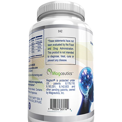 (FROM USA) Magtein Magnesium L- Threonate - Bioavailable and 100% Water Solubl