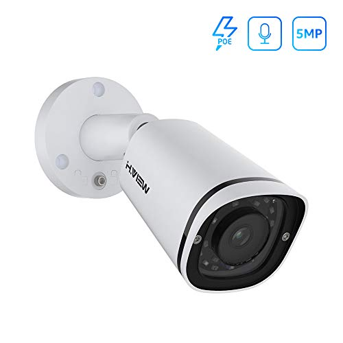 [USA Market] (Hikvision Compatible) 5MP PoE IP Bullet Camera Indoor Outdoor wi