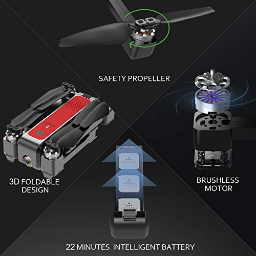 From USA MARSMO B4W FPV Drone with 2K Live Adjustable Camera, Foldable RC Quad