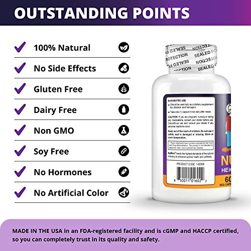 (FROM USA) Maximum Natural Height Growth Formula - NuBest Tall 10+ - Herbal Pe