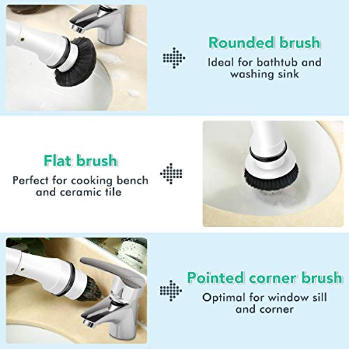 (FROM USA) MECO Electric Spin Scrubber, Power Scrubber Cordless High Rotation