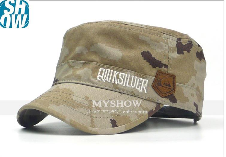 New USA Men Quiksilver Army Military Leather LOGO Classic Outdoor Cap