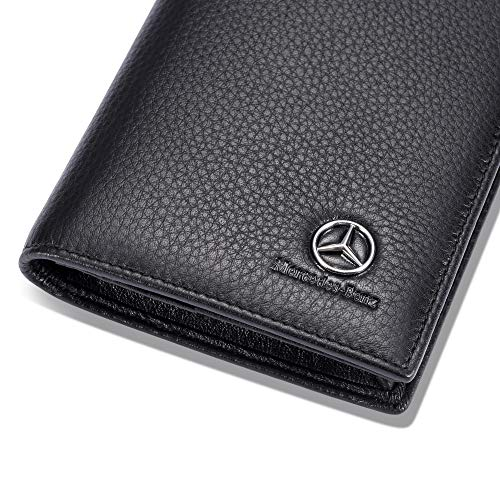 (FROM USA) Mercedes Benz Long Wallet with 11 Credit Card Slots ID Holder - Gen