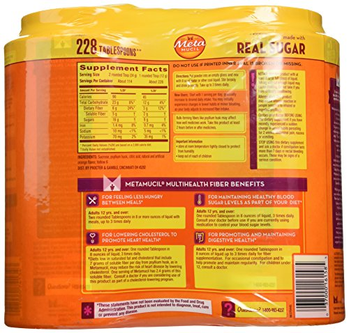 (FROM USA) Metamucil With 100% Natural Psylluim Fiber, Orange, 48.2-Ounce Bott