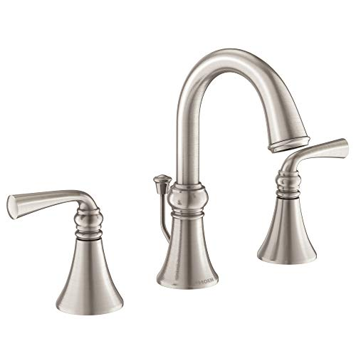 [From USA]Moen WS84855SRN Wetherly Two-Handle Widespread Bathroom Faucet with