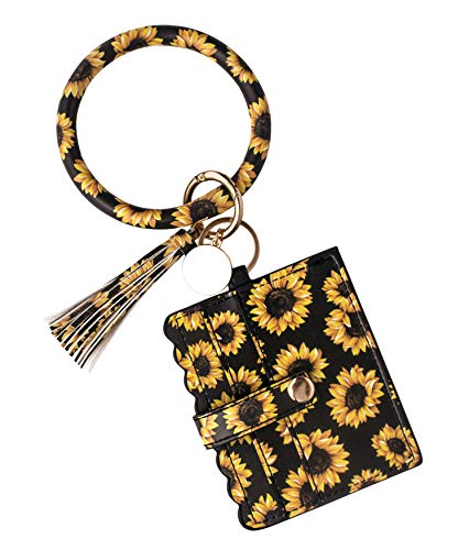 From USA MONOBLANKS Bracelet Keychain Card Holder,Leather Tassel Bangle Key Ri