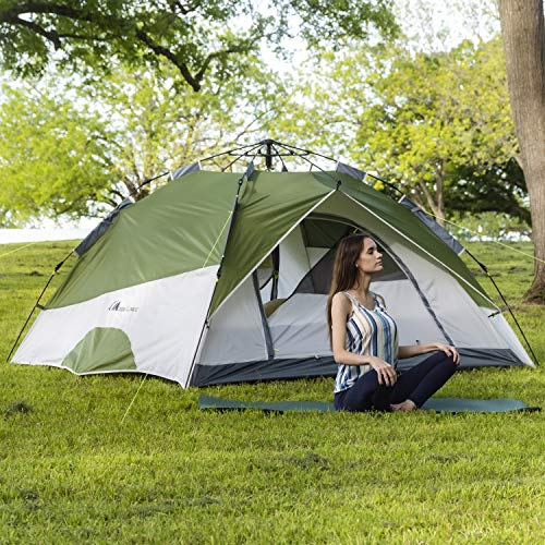 From USA MOON LENCE Pop Up Tent Family Camping Tent 4 Person Tent Portable Ins