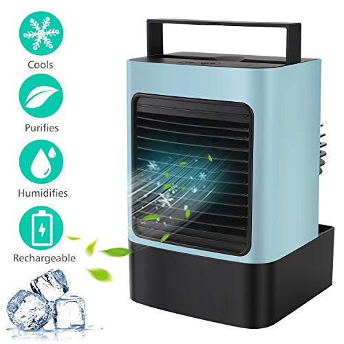From USA MOVTIP Portable Air Conditioner Fan, Personal Space Air Cooler Mini E