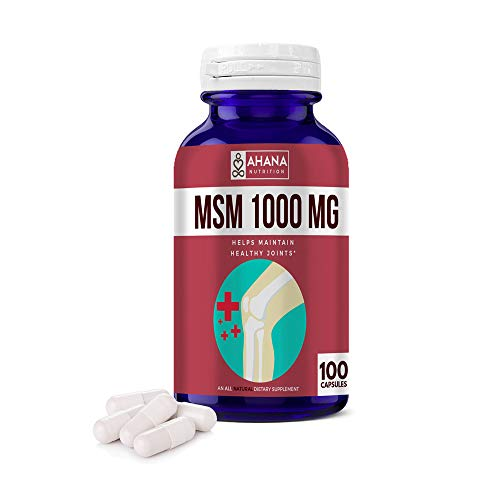 (FROM USA) MSM Capsules (100 Pills) - Supports Joint Pain, Aids Digestion  & S
