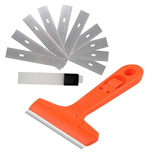 [From USA]Multipurpose 4-inch Replaceable Razor Blade Scraper 10pcs Extra High
