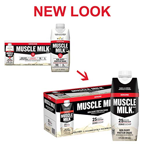 From USA Muscle Milk Genuine Protein Shake, Vanilla Crème, 25g Protein, 11 Fl