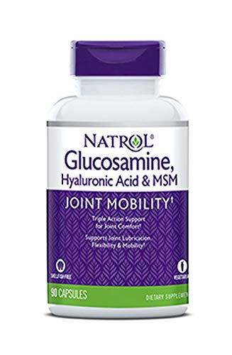 (FROM USA) Natrol Vegetarian Hyaluronic Acid MSM and Glucosamine, 90 Count, Pa