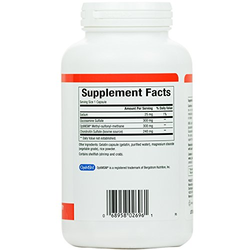 (FROM USA) Natural Factors, MSM Joint Formula, 180 Capsules (180 Servings)