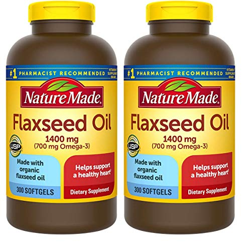 (FROM USA) Nature Made Organic Flaxseed Oil 1,400 mg - Omega-3-6-9 for Heart H