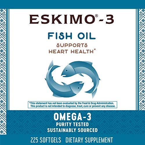 (FROM USA) Nature's Way Eskimo-3 Fish Oil Supplement, Omega-3, 225 Count