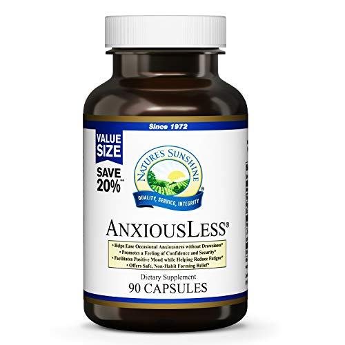 (FROM USA) Nature's Sunshine AnxiousLess 90 Capsules