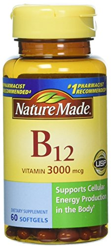 (FROM USA) Nature Made Vitamin B-12 Softgels, 3000 Mcg, 60 Count Pack of 3