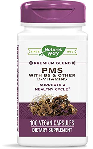(FROM USA) Natures Way PMS with Vitamin B6 and Other B-Vitamins 100 Capsules -