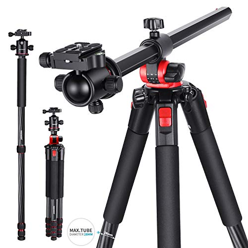 From USA Neewer Camera Tripod Monopod Carbon Fiber with Rotatable Center Colum