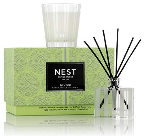 (FROM USA) NEST Fragrances Bamboo Petite Candle  & Reed Diffuser Set