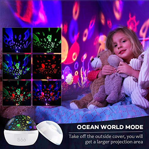 ..../ From USA/ Night Light Projector,Delicacy 2 in 1 Ocean Undersea Lamp and