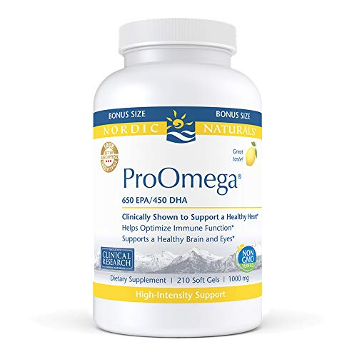 (FROM USA) Nordic Naturals ProOmega, Lemon Flavor - 1280 mg Omega-3-210 Soft G