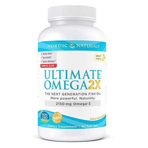 (FROM USA) Nordic Naturals Ultimate Omega 2X, Lemon Flavor - 2150 mg Omega-3-9
