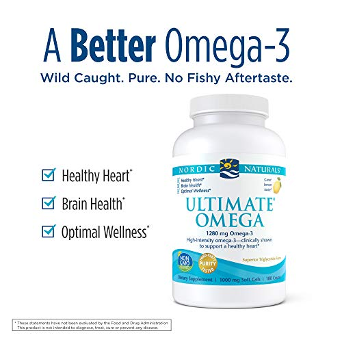 (FROM USA) Nordic Naturals Ultimate Omega, Lemon Flavor - 1280 mg Omega-3-180