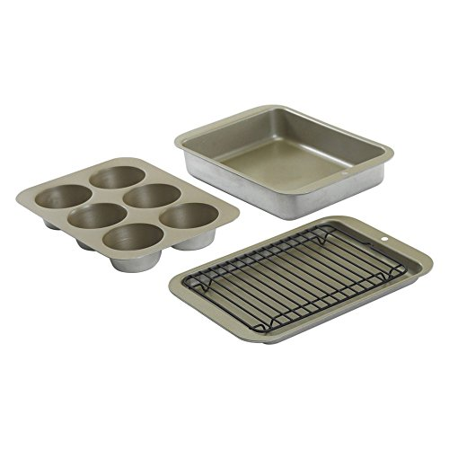 (FROM USA) Nordic Ware Compact Ovenware Aluminized Steel 5 Piece Bakeware Set
