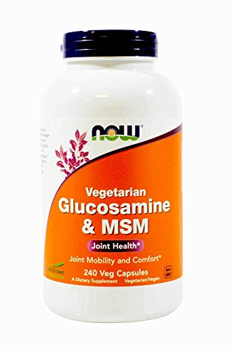 (FROM USA) NowFoods Vegetarian Glucosamine  & MSM Joint Health 240 Veg Capsule